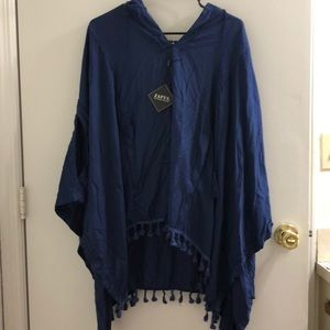 Navy Blue Hooded Shawl